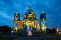 Καθεδρικός ναός του Βερολίνου τη νύχτα στοκ φωτογραφία με δικαίωμα ελεύθερης χρήσης