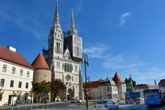 Καθεδρικός ναός του Ζάγκρεμπ στοκ εικόνα