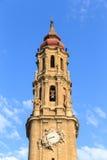 Καθεδρικός ναός του Λα Seo, στο διάσημο Plaza del Πιλάρ, Σαραγόσα Στοκ φωτογραφίες με δικαίωμα ελεύθερης χρήσης