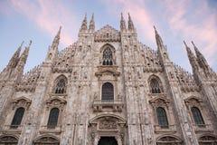 Καθεδρικός ναός του Μιλάνου στο Μιλάνο, Λομβαρδία, Ιταλία Στοκ εικόνα με δικαίωμα ελεύθερης χρήσης
