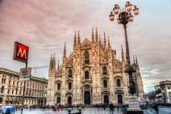 Καθεδρικός ναός του Μιλάνου Duomo, Ιταλία Στοκ Φωτογραφία