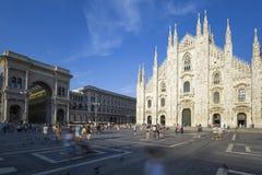 Καθεδρικός ναός του Μιλάνου, Duomo και Vittorio Emanuele ΙΙ στοά στοκ εικόνα