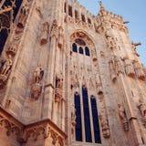Καθεδρικός ναός & x28 του Μιλάνου Duomo& x29  τεμάχιο ηλικίας φωτογραφία Στοκ φωτογραφίες με δικαίωμα ελεύθερης χρήσης