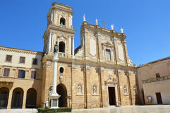 Καθεδρικός ναός του Μπρίντιζι στην πλατεία Duomo πλατειών, Μπρίντιζι, Apulia, Ιταλία Στοκ Εικόνα