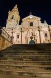 Καθεδρικός ναός του Ραγκούσα (Σικελία) τη νύχτα Στοκ φωτογραφία με δικαίωμα ελεύθερης χρήσης