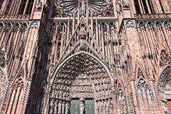 Καθεδρικός ναός του Στρασβούργου εισόδων στοκ εικόνες