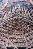 Καθεδρικός ναός του Στρασβούργου - Ρωμαίος - καθολικό ασβέστιο Στοκ Φωτογραφία