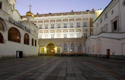 Καθεδρικός ναός του Annunciation sobor Blagoveschensky τη νύχτα Τετράγωνο καθεδρικών ναών, μέσα της Μόσχας Κρεμλίνο, Ρωσία Στοκ Εικόνες