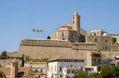 Καθεδρικός ναός του d'Eivissa της Σάντα Μαρία στην πόλη Ibiza Στοκ Εικόνες