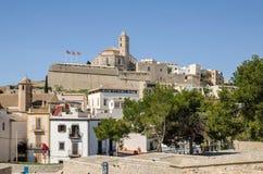 Καθεδρικός ναός του d'Eivissa της Σάντα Μαρία στην πόλη Ibiza Στοκ Φωτογραφία