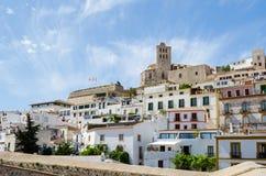 Καθεδρικός ναός του d'Eivissa της Σάντα Μαρία στην πόλη Ibiza Στοκ εικόνα με δικαίωμα ελεύθερης χρήσης