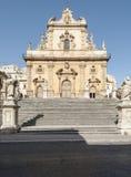 Καθεδρικός ναός του modica Ραγκούσα Σικελία Ιταλία Ευρώπη Αγίου Peter Στοκ εικόνα με δικαίωμα ελεύθερης χρήσης