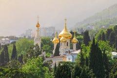 Καθεδρικός ναός του ST Αλέξανδρος Nevsky yalta της Κριμαίας Στοκ Φωτογραφία