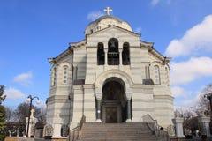Καθεδρικός ναός του ST Βλαντιμίρ στην πόλη της Σεβαστούπολης (Κριμαία) Στοκ Εικόνα