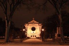 Καθεδρικός ναός του ST Boniface τη νύχτα στοκ φωτογραφίες με δικαίωμα ελεύθερης χρήσης