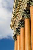 Καθεδρικός ναός του ST Isaac στηλών στη Αγία Πετρούπολη Στοκ Εικόνες