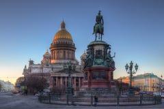Καθεδρικός ναός του ST Isaac ` s, τετράγωνο του ST Isaac ` s, Αγία Πετρούπολη Στοκ Εικόνα