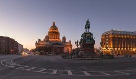 Καθεδρικός ναός του ST Isaac ` s, τετράγωνο του ST Isaac ` s, Αγία Πετρούπολη Στοκ Εικόνες
