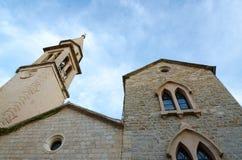 Καθεδρικός ναός του ST John ο βαπτιστικός, Budva, Μαυροβούνιο στοκ φωτογραφίες