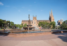 Καθεδρικός ναός του ST Mary ` s και πηγή Archibald Στοκ φωτογραφία με δικαίωμα ελεύθερης χρήσης