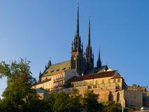 Καθεδρικός ναός του ST Peter και Paul στο Μπρνο Στοκ εικόνα με δικαίωμα ελεύθερης χρήσης