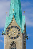 Καθεδρικός ναός του ST Peter στη Ζυρίχη Στοκ Φωτογραφία