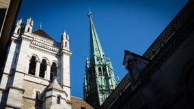 Καθεδρικός ναός του ST Pierre στη Γενεύη, Ελβετία στοκ εικόνες