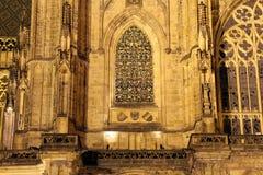 Καθεδρικός ναός του ST Vitus (Ρωμαίος - καθολικός καθεδρικός ναός) στο Κάστρο της Πράγας Στοκ φωτογραφία με δικαίωμα ελεύθερης χρήσης