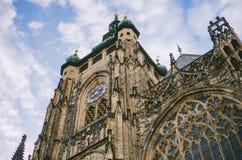 Καθεδρικός ναός του ST Vitus στο Κάστρο της Πράγας στην Πράγα Στοκ Φωτογραφίες