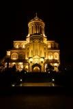 Καθεδρικός ναός τριάδας Αγίου στο Tbilisi Στοκ Φωτογραφία