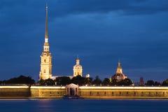 Καθεδρικός ναός των αποστόλων Peter και Paul στο Peter και το φρούριο του Paul Πετρούπολη Άγιος Στοκ Φωτογραφία