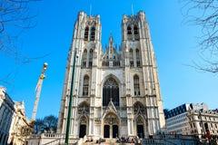 καθεδρικός ναός των Βρυξελλών Στοκ Εικόνα