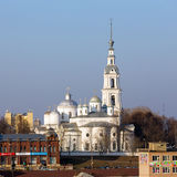 Καθεδρικός ναός υπόθεσης, καθεδρικός ναός τριάδας και καμπαναριό σε Kineshma Στοκ Φωτογραφίες