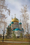 Καθεδρικός ναός υπόθεσης (ο καθεδρικός ναός Dormition) στο Ομσκ Στοκ φωτογραφίες με δικαίωμα ελεύθερης χρήσης