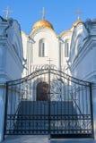 Καθεδρικός ναός υπόθεσης, πυροβοληθείσα ο Βλαντιμίρ κινηματογράφηση σε πρώτο πλάνο Στοκ φωτογραφίες με δικαίωμα ελεύθερης χρήσης