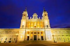 Καθεδρικός ναός Almudena της Μαδρίτης, Ισπανία Στοκ Φωτογραφίες