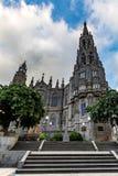 Καθεδρικός ναός Arucas (εκκλησία του San Juan Bautista) μια νεφελώδη ημέρα, θλγραν θλθαναρηα, Ισπανία Στοκ φωτογραφία με δικαίωμα ελεύθερης χρήσης