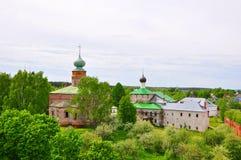 Καθεδρικός ναός Boris και Gleb και η εκκλησία Annunciation στο μοναστήρι σε Borisoglebsk χωριό Borisoglebskiy, Ρωσία Στοκ εικόνα με δικαίωμα ελεύθερης χρήσης