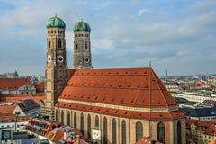 Καθεδρικός ναός Frauenkirche στο Μόναχο, Βαυαρία Στοκ φωτογραφία με δικαίωμα ελεύθερης χρήσης