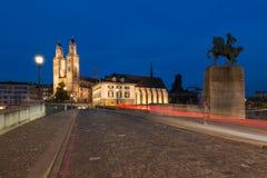 Καθεδρικός ναός Fraumunster Στοκ φωτογραφία με δικαίωμα ελεύθερης χρήσης