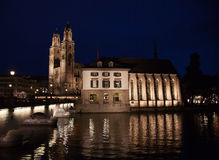 Καθεδρικός ναός Grossmunster Στοκ εικόνες με δικαίωμα ελεύθερης χρήσης