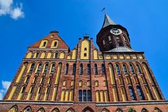 Καθεδρικός ναός Koenigsberg - γοτθικός ναός του 14ου αιώνα Στοκ φωτογραφία με δικαίωμα ελεύθερης χρήσης