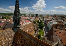 Καθεδρικός ναός Kosice και citiscape τοπ άποψη Στοκ εικόνα με δικαίωμα ελεύθερης χρήσης