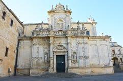 Καθεδρικός ναός Lecce που αφιερώνεται στην υπόθεση της Virgin Mary, Apulia, Ιταλία Στοκ Εικόνα