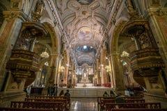 Καθεδρικός ναός Metropolitana Plaza de Armas στο Σαντιάγο, Χιλή Στοκ Εικόνα