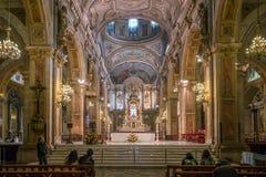 Καθεδρικός ναός Metropolitana Plaza de Armas στο Σαντιάγο, Χιλή Στοκ εικόνα με δικαίωμα ελεύθερης χρήσης