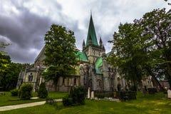 Καθεδρικός ναός Nidaros στο Τρόντχαιμ, Νορβηγία Στοκ εικόνες με δικαίωμα ελεύθερης χρήσης