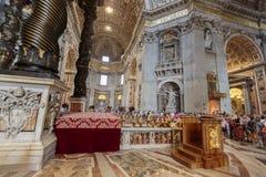καθεδρικός ναός Peter Άγιος Βατικανό Στοκ φωτογραφίες με δικαίωμα ελεύθερης χρήσης