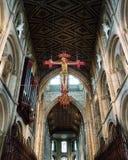 Καθεδρικός ναός Peterborough ο κρεμώντας σταυρός Στοκ Εικόνα