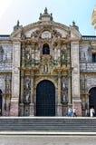 Καθεδρικός ναός Plaza de Armas, Λίμα, Περού Στοκ εικόνα με δικαίωμα ελεύθερης χρήσης